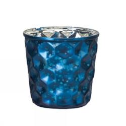 Värmeljusglas S Dotted Blå