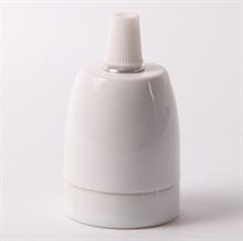 Valkoinen Posliini Lampunpidike E27