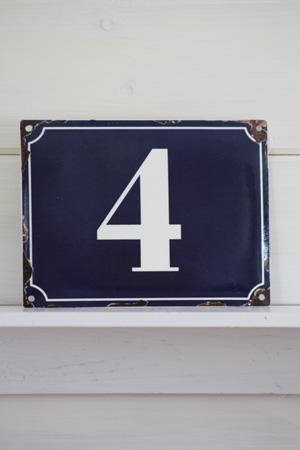 Nummerskylt Nr 0-9