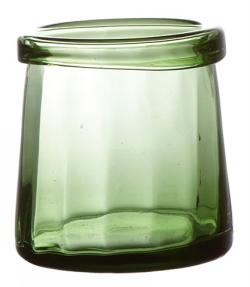 Grönt Värmeljusglas