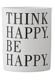 Burk/ Värmeljusglas Think Happy Be Happy