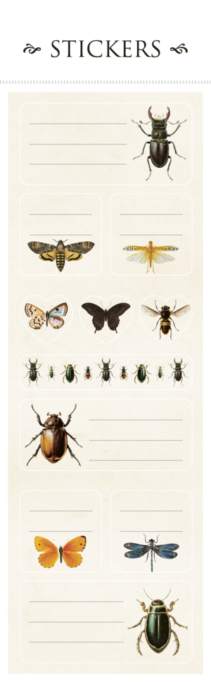Klistermärkesark insekter